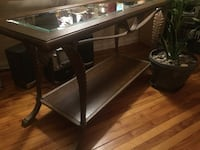 Metal framed side table with glass top Kitchener, N2M 3G4