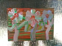 two green and pink flower paintings Los Angeles, 91343