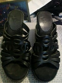 pair of black leather open-toe sandals Myrtle Beach, 29577