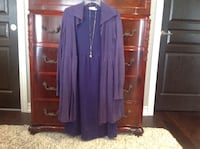 Women's purple long sleeve dress with sweater. Lincoln, L0R