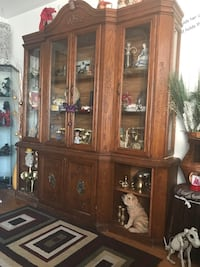 China cabinet solid wood asking 150 obo Clearview, L0M 1G0
