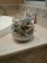 GLASS BOWL w/NEW MEXICO SAND & OREGON ROCKS Atascadero, 93422