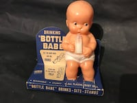 Antique 1950's Irwin drinking bottle baby toy display Babe toys