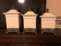 3 large decorative canisters San Diego, 92108