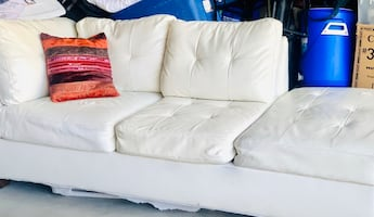 White leather Couch very comfortable