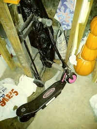 black and pink electric scooter Tyrone, 16686
