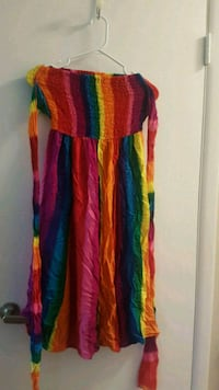 Rainbow convertible dress Cambridge