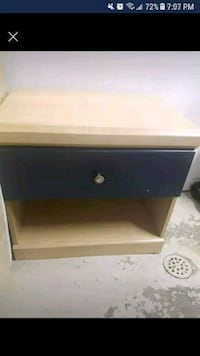 brown wooden single drawer side table Toronto, M6E 1Y5