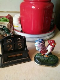 Cast Iron Rooster & Wood Rooster 262 mi