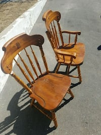 Solid hardwood table 6 chairs and hutch for sale . Brampton, L6V 3N5