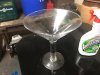 Large heavy glass Martini glass