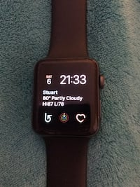 Apple Watch-series3. GPS & CellularComes with charger. Works perfectly! Minor superficial scratches as seen in pic-does not effect it's functioning! Call if interested! Stuart, 34994