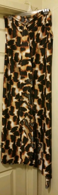 ANIMAL PRINT CAVEWOMAN RUFFLE SKIRT