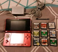 red nintendo 3ds 9 games and more Seaford, 19973