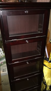 "2- Collection Cabinets. - 48"" tall , 20"" wide Red Bank"