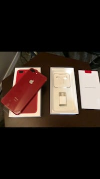 red iPhone 7 plus with box Redford Charter Township