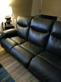 Leather couch, chair, love seat