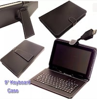 black tablet computer with keyboard HAYES