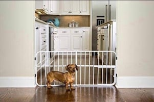 New, unused.. Carlson Pet Products Lil' Tuffy Metal Expandable Gate