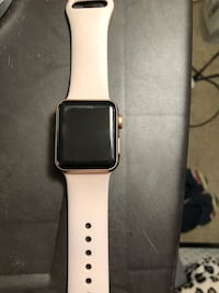 silver aluminum case Apple Watch with white sport band Silver Spring, 20910