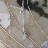Frosted White Beach Glass Dragonfly pendant on 26 inch silver plated chain Welland, L3C
