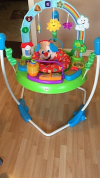 Baby's green and blue fisher-price jumperoo London, N6E 1J4
