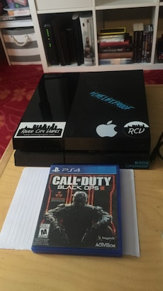 jetblack sony ps4 game console with call of duty black ops 3 sony ps4 game case