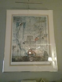silver framed abstract painting Summerfield, 27358