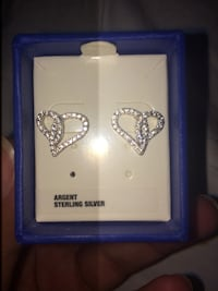 Silver heart earrings Mississauga, L4X 2J6