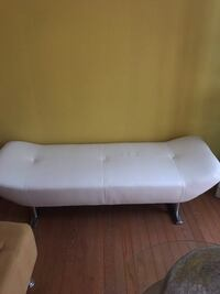 white leather tufted ottoman chair Fort Belvoir, 22060