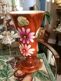 Exquisite vintage, hand painted, numbered vase from Italy, 12.5 inches Laval, H7G 1G2