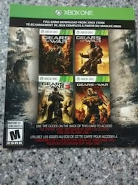 Gears of war 123 and judgemnet codes for digital d Harlowton, 59036