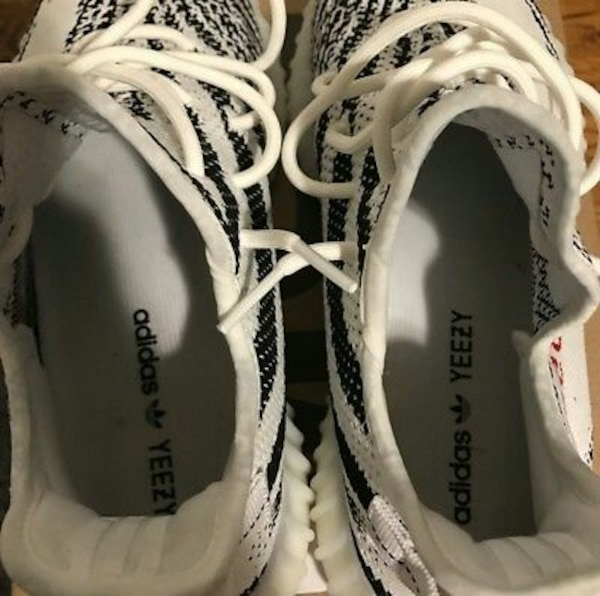 e14bd035a0ae4 Used Zebra Adidas Yeezy Boost Spl 350 V2 shoes with box for sale in Winston- Salem - letgo