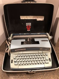 Vintage Baby Blue Electric Typewriter Coronet Super 12 With Hard Case Dumfries
