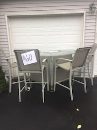 rectangular white wooden table with six chairs dining set Riverhead, 11901