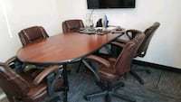 Conference table 5 chairs file cabinet  Las Vegas