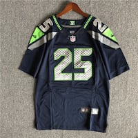 NIKE NFL SEAHAWKS RUGBY JERSEY T SHIRT IN NAVY GRE
