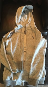 Sitka Gray zip-up hooded jacket SM