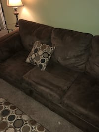 brown suede 3-seat sofa Washington, 20017
