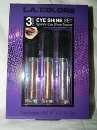 3 Piece L. A. Colors Sparkly Eye Shine Topper Liquid Eyeshadow Set **FREE SHIP**