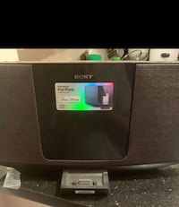 black and gray Sony docking speaker Vienna, 22182
