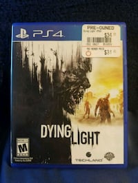 Dying Lighg- PS4 Game, Good Condition Henrico, 23229