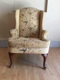 Vintage Wingback Chair With Bird Accent Ozark