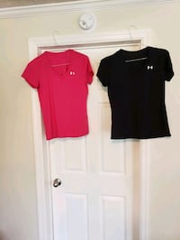 2 ladies size small Under armour shirts