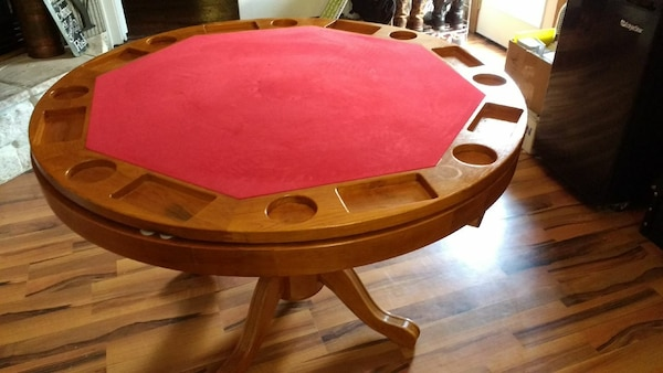 Used 3 In 1 Convertible Dining Game Table Pokerbump For Sale In