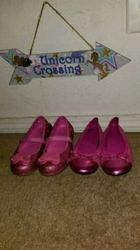 2 pairs pink girl shoes size 13 and 1 LOS RNCHS ABQ, 87114