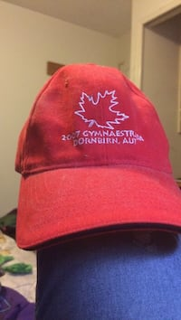 2017 red Gymnaestrada-embroidered curved-brim cap New Westminster
