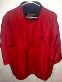 FootJoy Dryjoys Team Canada Golf Pullover Short Sleeve Jacket Size XL