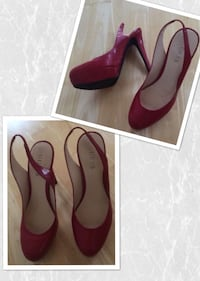 Guess red shoes, size 6 1/2 - worn only 2-3 times for a few hours San Diego, 92107