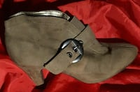 pair of gray suede  heeled booties Chilliwack, V2P 2G2